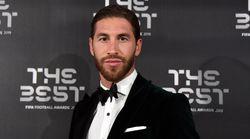 Sergio Ramos se va de la lengua y la lía a su llegada a la gala de la