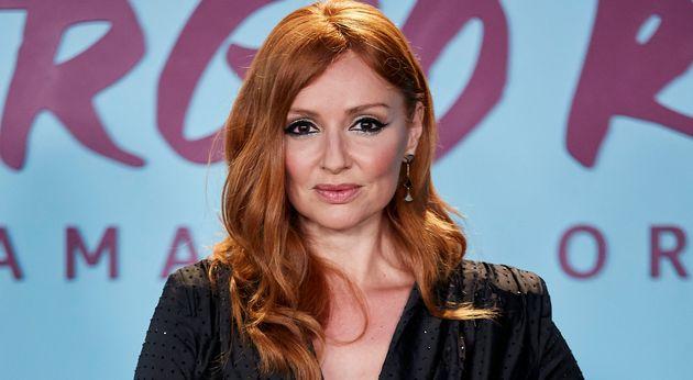 La actriz Cristina Castaño, en el estreno de 'El Corazon De Sergio Ramos' el 10 de septiembre...