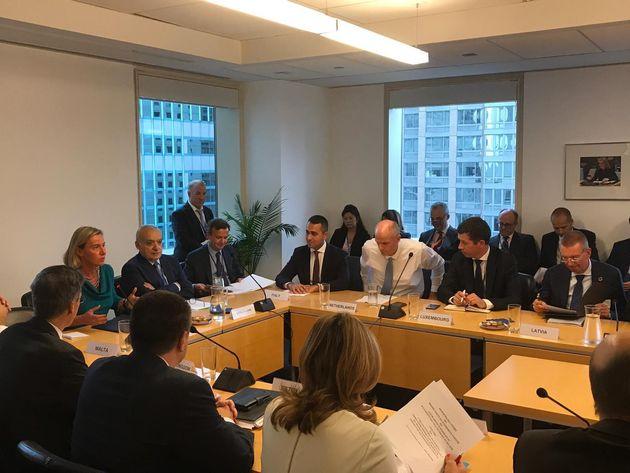 New York, incontro dei ministri degli esteri