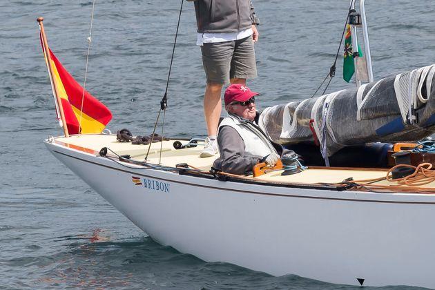 El rey Juan Carlos, en una regata en Sanxenxo el 22 de septiembre de