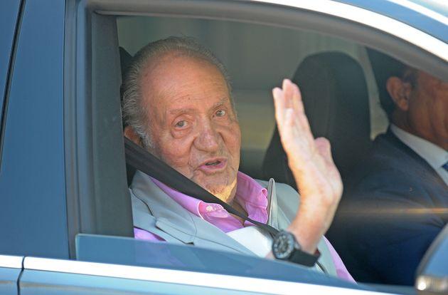 El rey Juan Carlos, a su salida del hospital el 31 de agosto de