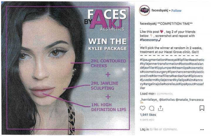 An ad byFaces by AKJ Aesthetics.