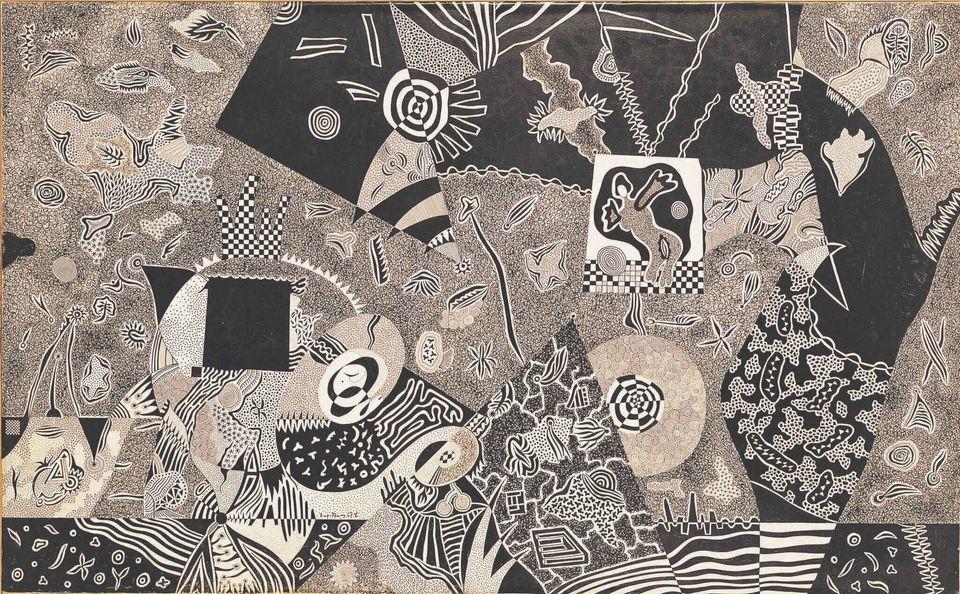Το Όνειρο του Πυλάδη, 1967 μελάνι σε χαρτί 50x80