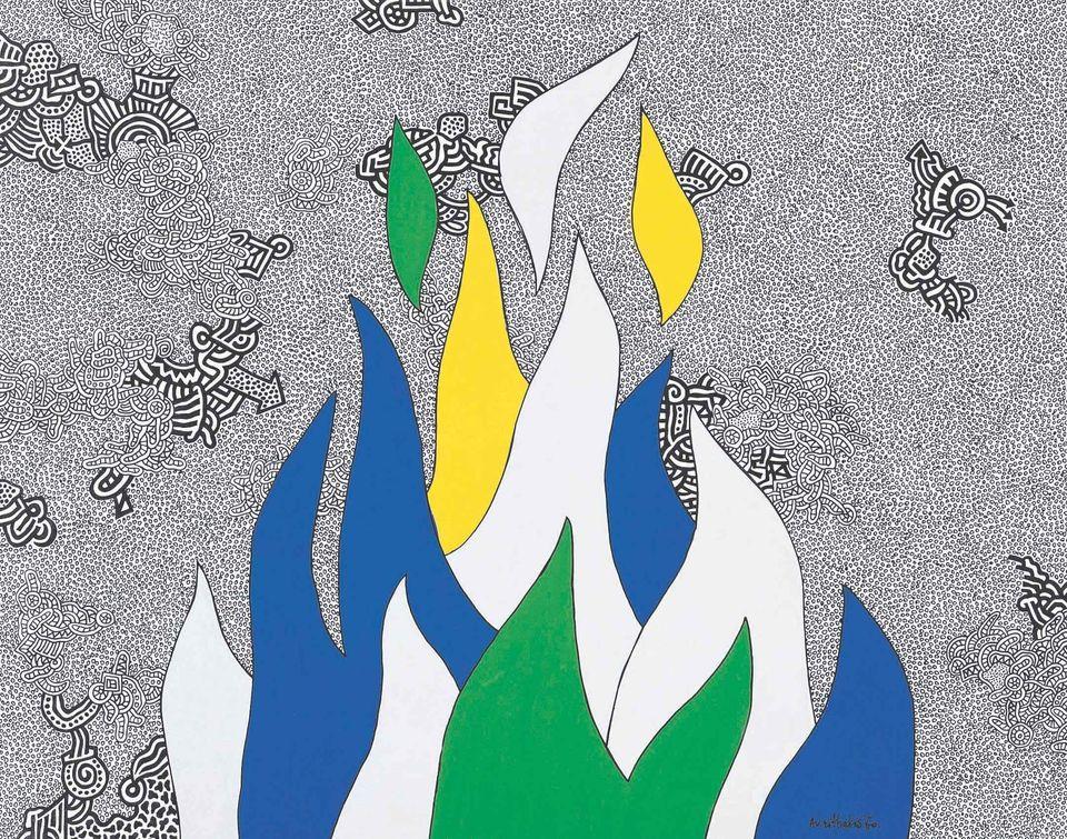 Φωτιά, 1970 μελάνι και τέμπερα σε χαρτί 50x70 εκ.© 2019 The Estate of Alexis