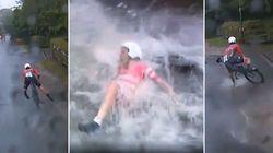 Aux Mondiaux de cyclisme, la pluie a provoqué des chutes