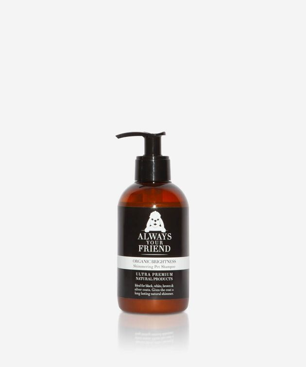 Οργανικό σαμπουάν για λάμψη Always Your Friend που καθαρίζει ήπια και ενυδατώνει το δέρμα του κατοικιδίου...