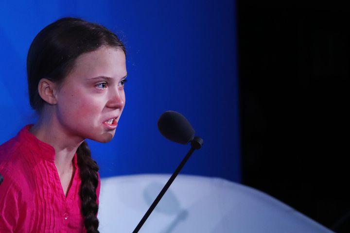 """""""Nous ne vous pardonnerons jamais. Nous ne vous laisserons pas vous en sortir comme ça"""", a aussi affirmé la jeune suédoise Greta Thunberg lors du sommet de l'Onu."""