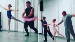 Ces papas qui s'essayent à la danse classique avec leurs filles sont