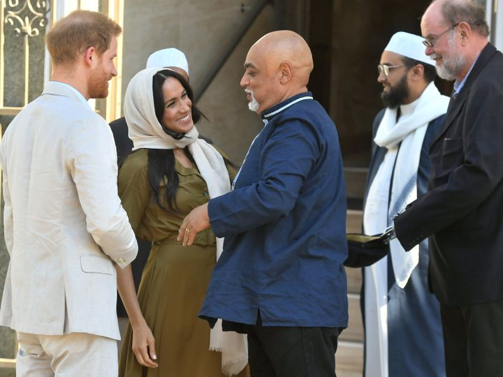 Meghan and Harry share greetings in the Bo-Kaap neighborhood of in Cape Town, South Africa.