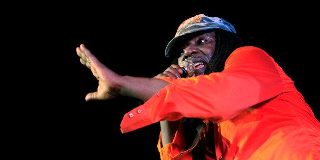 Ivorian reggae singer Alpha Blondy performs during the closing ceremony of the Market for African Performing...