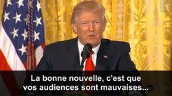 Quand Trump donne une conférence à la presse pour dire tout le mal qu'il pense