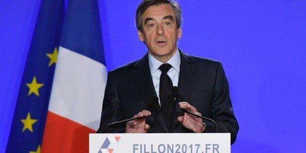 French presidential election candidate for the right-wing Les Republicains (LR) party Francois Fillon...