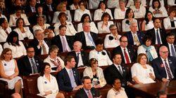 Pendant le discours de Donald Trump devant le Congrès, les élues démocrates ont fait passer un message fort sans dire un