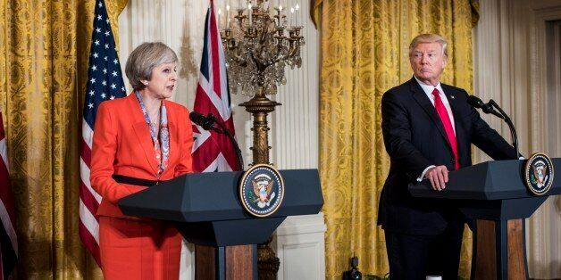 WASHINGTON, DC - President Donald Trump holds a joint press conference with Prime Minister of the United...