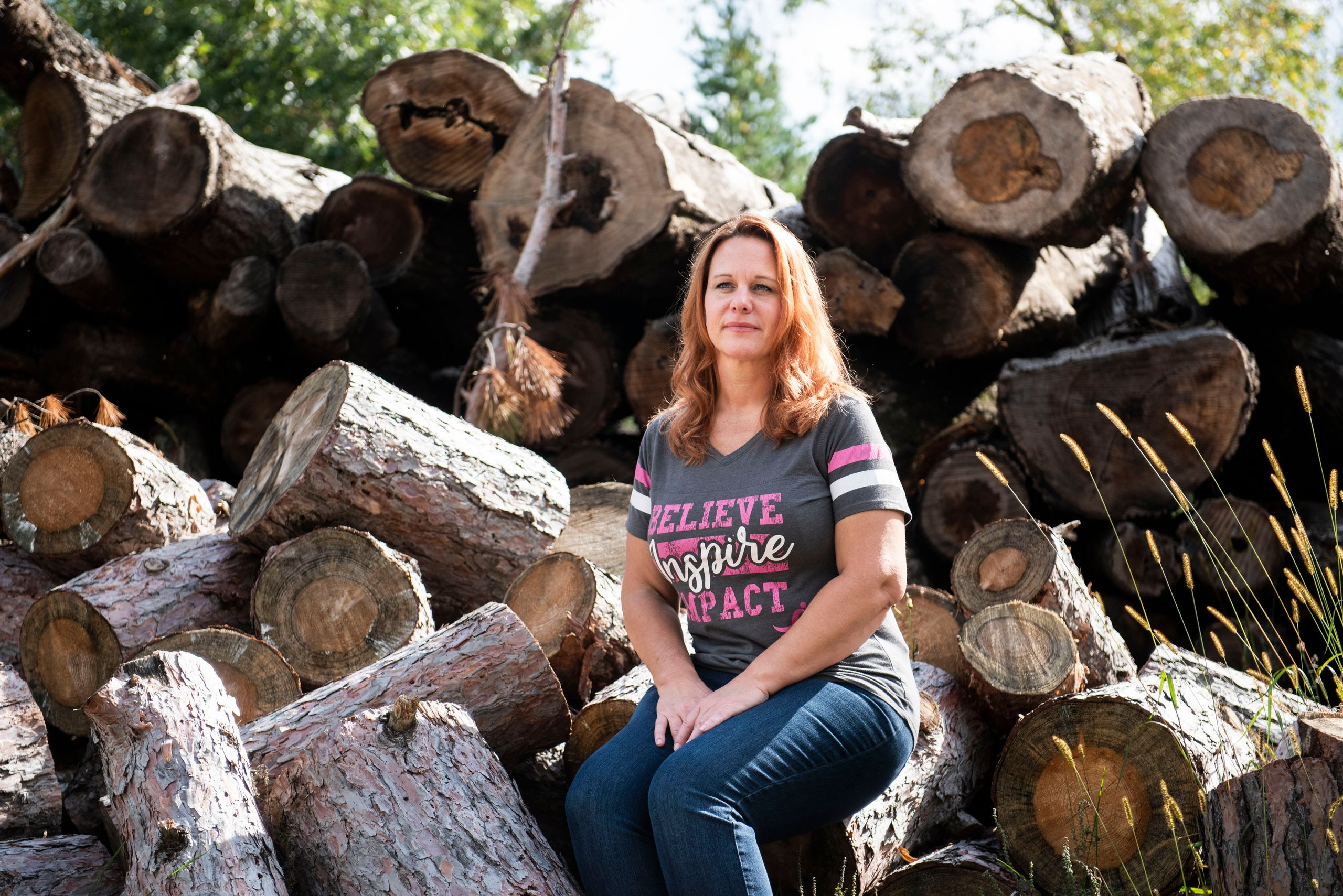 Criste Sullivan-Greening, an active member of Protect Wood County, at her home in Saratoga, Wisconsin, on Sept. 20, 2019.