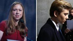 Chelsea Clinton vole au secours du fils de Trump, moqué sur les réseaux