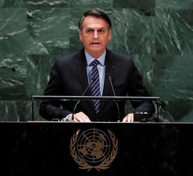 Jair Bolsonaro, durante su discurso en la Asamblea General de la