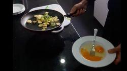 Une Ojja exotique: Banane et kiwi remplacent poivron et