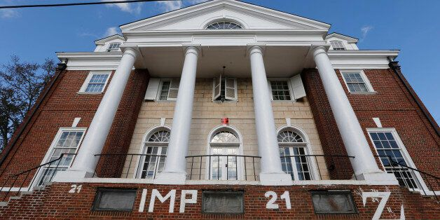FILE - This Nov. 24, 2014, file photo, shows the Phi Kappa Psi house at the University of Virginia in...