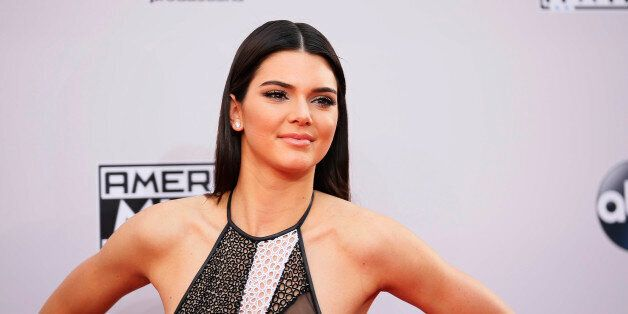 Model Kendall Jenner arrives at the 42nd American Music Awards in Los Angeles, California November 23,...