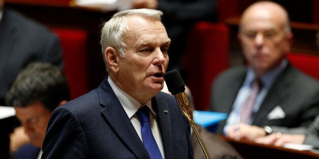 French Foreign Minister Jean-Marc Ayrault attends the questions to the government session at the National...