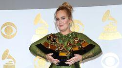 Adele triomphe aux Grammy Awards, avec cinq