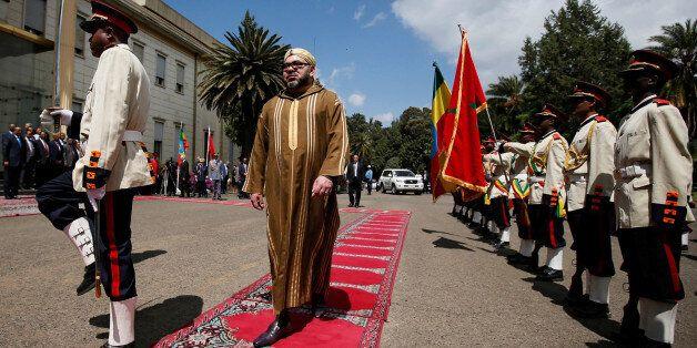 Le roi Mohammed VI lors de sa visite à Addis-Abeba, en Ethiopie, le 19 novembre
