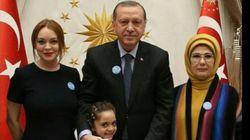Lindsay Lohan rencontre Recep Tayyip Erdogan et la fillette syrienne Bana Al