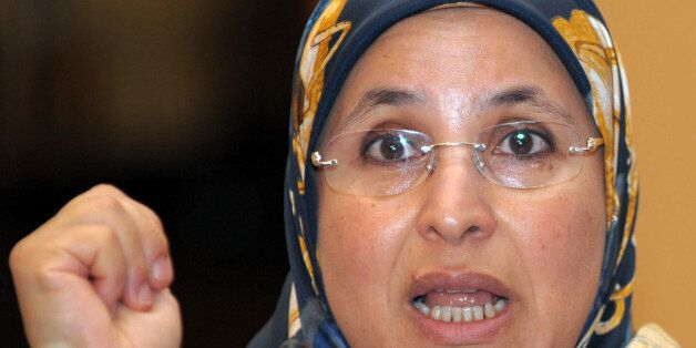 Bassima Hakkaoui, Morocco's minister of familly and women talks about violence against women during an...