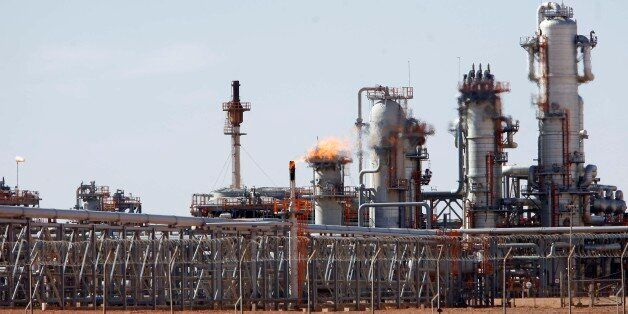A view of Krechba gas treatment plant, about 1200 km (746 miles) south Algiers December 14, 2008. Algeria...