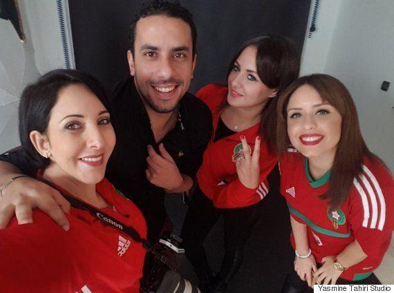 Yasmine Tahiri s'est lancé le pari fou de shooter gratuitement les supporters des Lions de l'Atlas