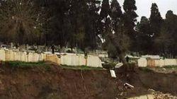 Annaba : Des tombes détériorées suite à un glissement de terrain causé par un chantier