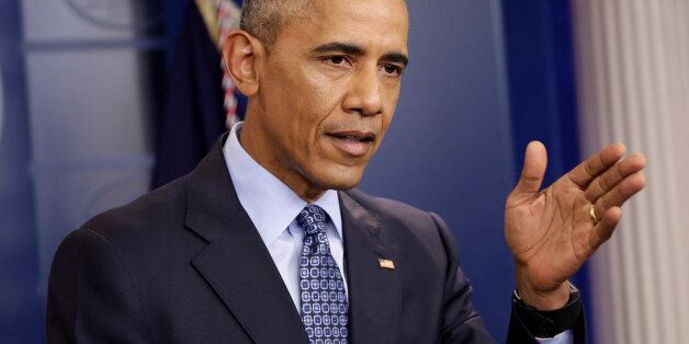 U.S. President Barack Obama speaks during his last press conference at the White House in Washington,...