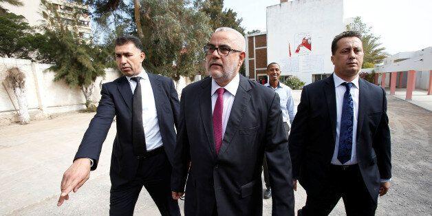 Abdelilah Benkirane, secretary-general of Morocco's Islamist Justice and Development Party (PJD) speaks...
