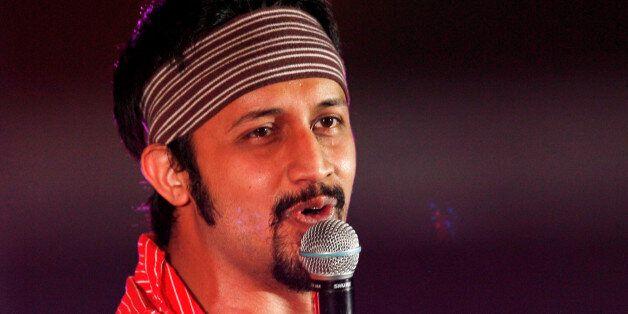 Pakistani singer Atif Aslam performs in Manama as part of the Asian Cultural Festival in Bahrain May...