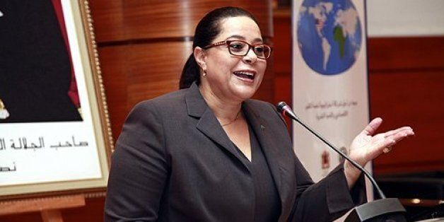 Head of the Moroccan 'Confederation Generale des Entreprises' Miriem Bensalah Chaqroun attends a plenary...