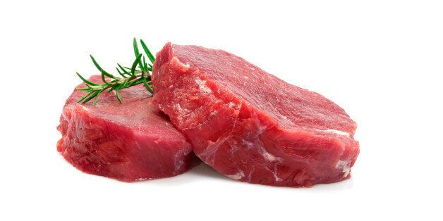 Two Raw Steaks Isolated on