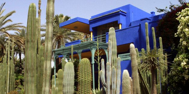 A view of the Majorelle botanical garden, where the remains of French fashion designer Yves Saint Laurent...