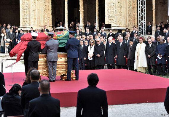 Le Prince Moulay Rachid et Abderrahmane Youssoufi aux funérailles de Mario