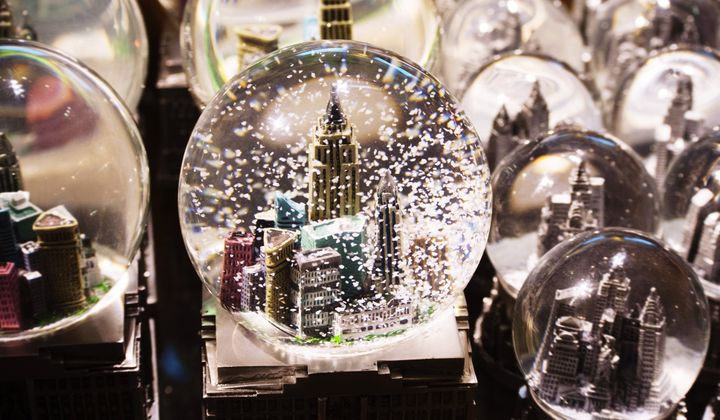 Snow globes that are larger than a tennis ball must be checked.