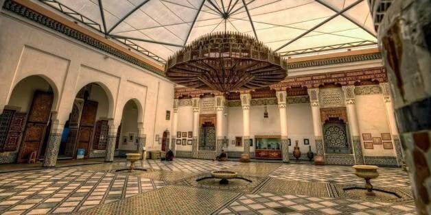La cuve d'ablution du musée Dar Si Saïd conservée au