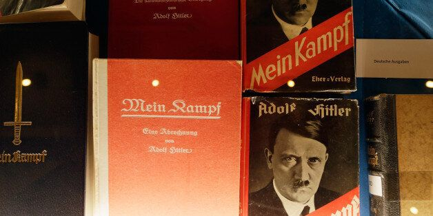 MUNICH, GERMANY - JANUARY 08: Historic copies of Adolf Hitler's 'Mein Kampf' are displayed during the...