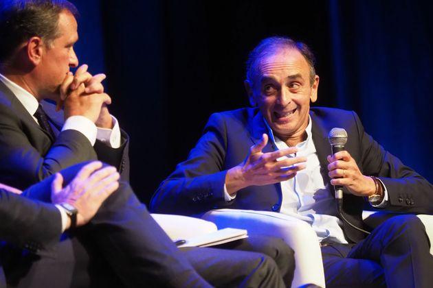 Éric Zemmour à Perpignan, lors d'une conférence organisée par Louis Aliot...