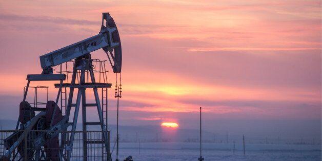 TATARSTAN, RUSSIA - JANUARY 18, 2017: An oil derrick in Almetyevsk District. Yegor Aleyev/TASS (Photo...