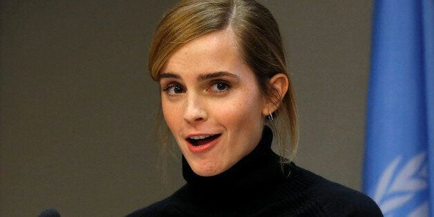 UN Women's Goodwill Ambassador, Emma Watson, speaks during a news conference to launch the HeForShe...
