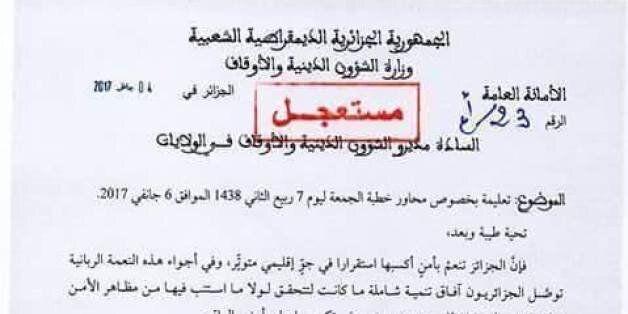 Emeutes de Béjaïa: Le ministère des Affaires religieuses ordonne aux imams de contrer