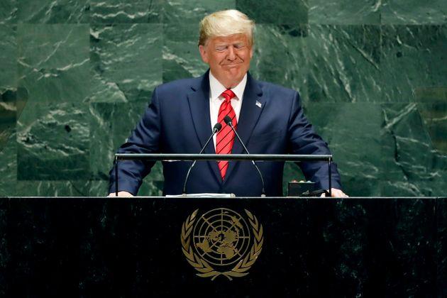 Le président américain Donald Trump prend la parole devant la 74e session de l'Assemblée...