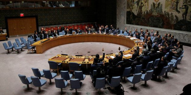 The United Nations Security Council votes on a resolution aimed at ensuring that U.N. officials can monitor...