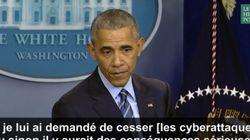 Barack Obama a menacé Vladimir Poutine de