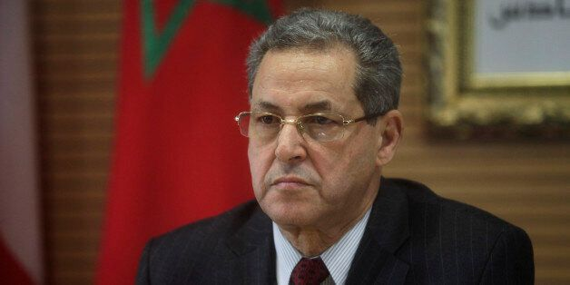 Moroccan Interior Minister Mohand Laenser is seen during a meeting with his Spanish, French and Portuguese...